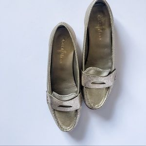 Cole Haan Shimmer Gold Loafers